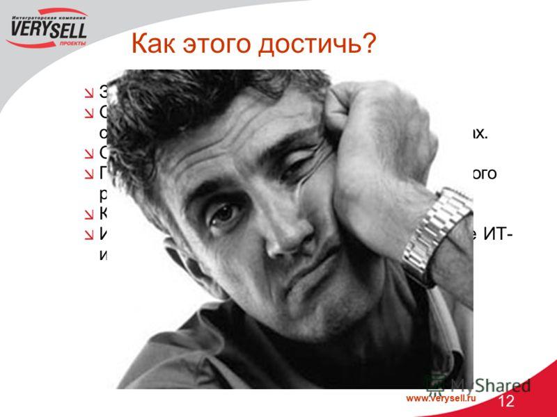 www.verysell.ru 12 Как этого достичь? Знать состояние критичных ИТ-ресурсов. Оценивать нагрузку на ресурсы с целью своевременного принятия решения о закупках. Отслеживать сбои. Понимать коренную причину сбоя для быстрого реагирования. Контролировать