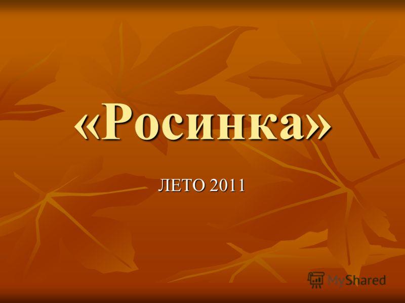 «Росинка» ЛЕТО 2011