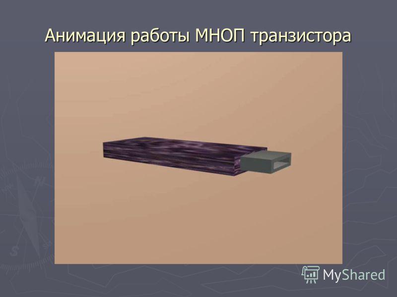 Анимация работы МНОП транзистора