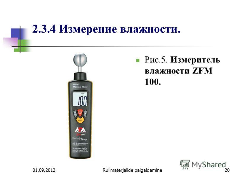 01.09.2012Rullmaterjalide paigaldamine20 2.3.4 Измерение влажности. Рис.5. Измеритель влажности ZFM 100.