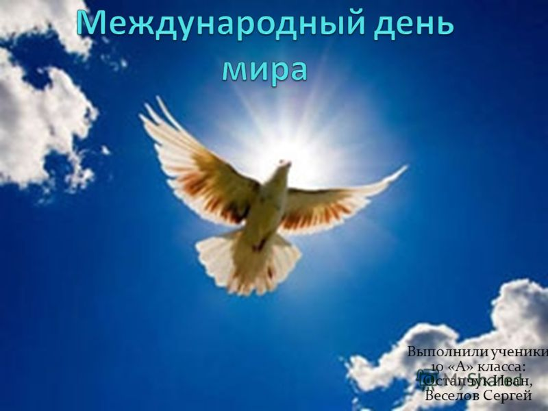 Выполнили ученики 10 «А» класса: Остапчук Иван, Веселов Сергей