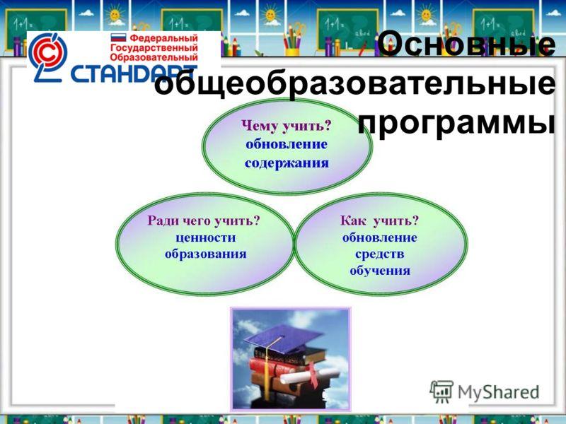Основные общеобразовательные программы