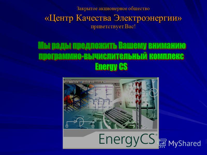Закрытое акционерное общество «Центр Качества Электроэнергии» приветствует Вас!