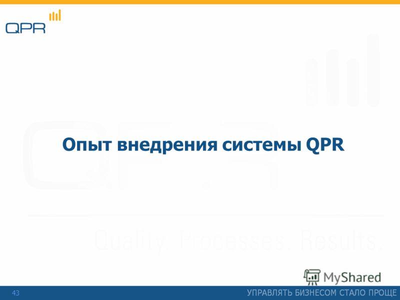 43 Опыт внедрения системы QPR