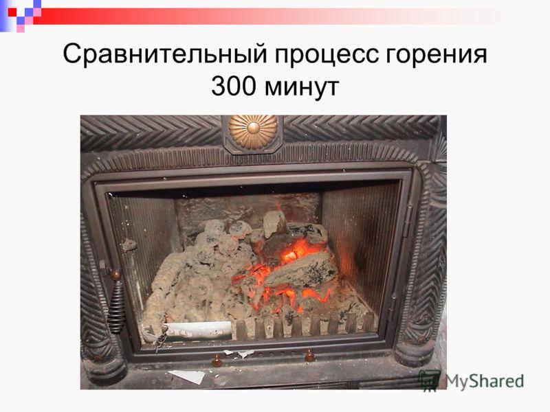 Сравнительный процесс горения 300 минут