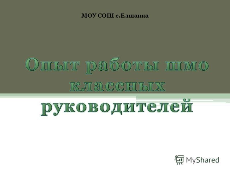 МОУ СОШ с.Елшанка