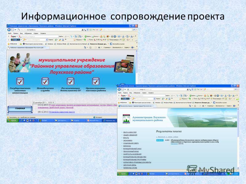 Информационное сопровождение проекта
