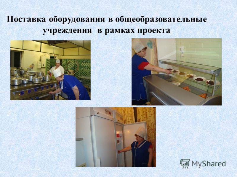 Поставка оборудования в общеобразовательные учреждения в рамках проекта