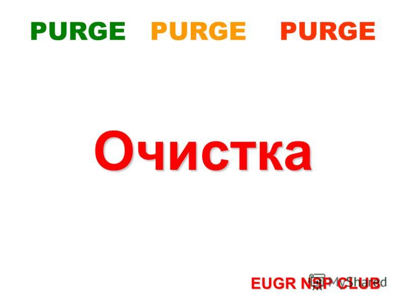 PURGE PURGE PURGEОчистка EUGR NSP CLUB