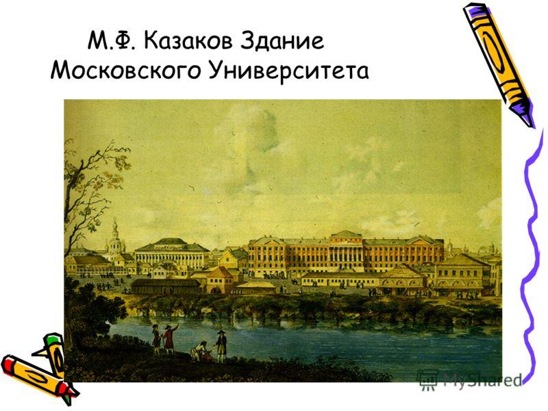 М.Ф. Казаков Здание Московского Университета