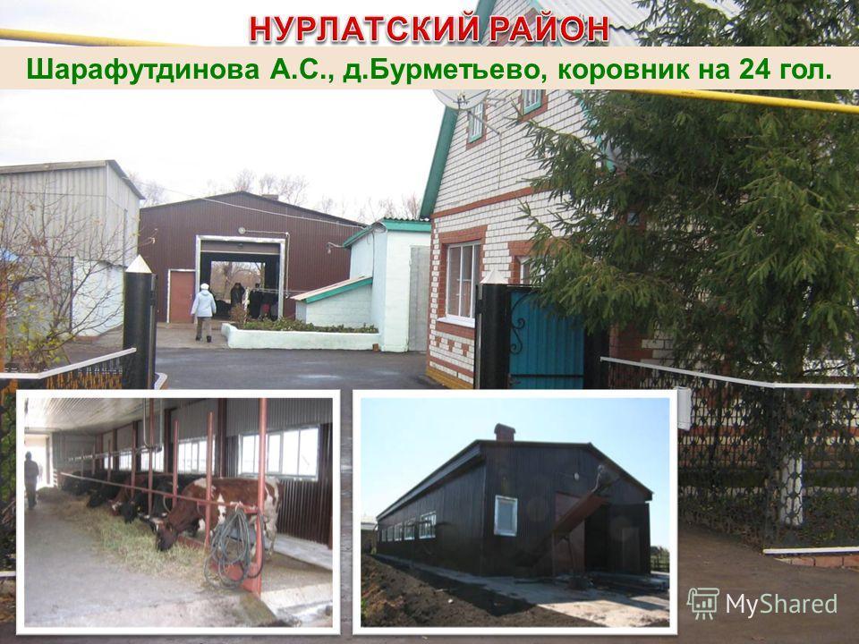 Шарафутдинова А.С., д.Бурметьево, коровник на 24 гол.