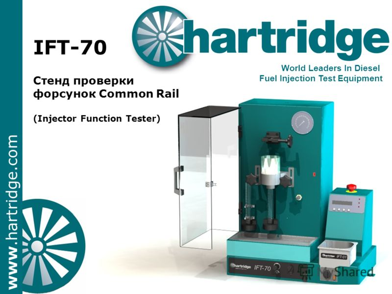 www.hartridge.com IFT-70 Стенд проверки форсунок Common Rail (Injector Function Tester) World Leaders In Diesel Fuel Injection Test Equipment