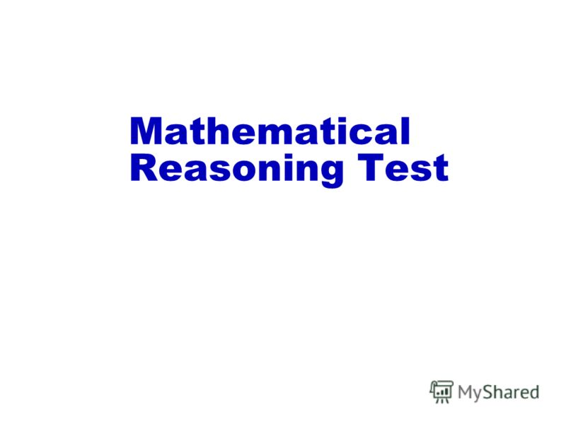 Mathematical Reasoning Test