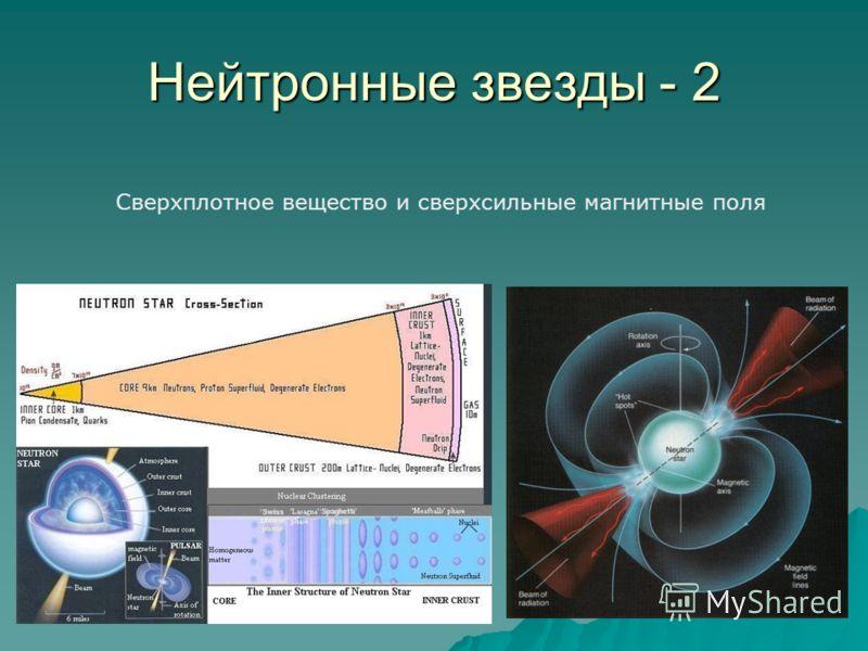Нейтронные звезды - 2 Сверхплотное вещество и сверхсильные магнитные поля