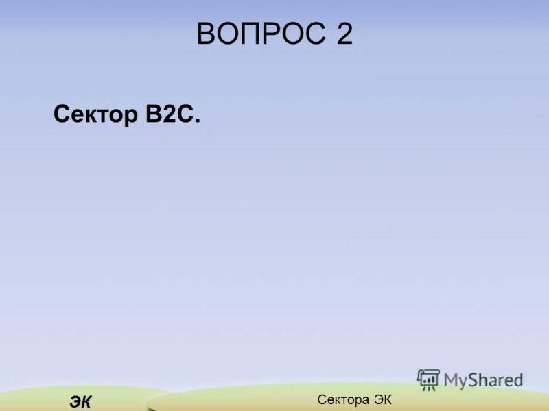 ЭК ВОПРОС 2 Сектор B2C.