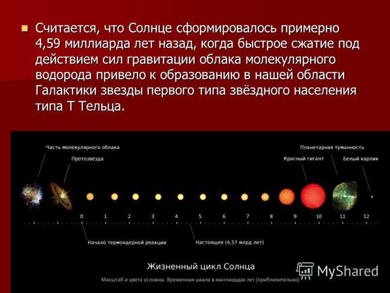 По спектральной классификации Солнце относится к типу G2V («жёлтый карлик»). Температура поверхности Солнца достигает 6000 K, поэтому Солнце светит почти белым светом, но из-за более сильного рассеяния и поглощения коротковолновой части спектра атмос