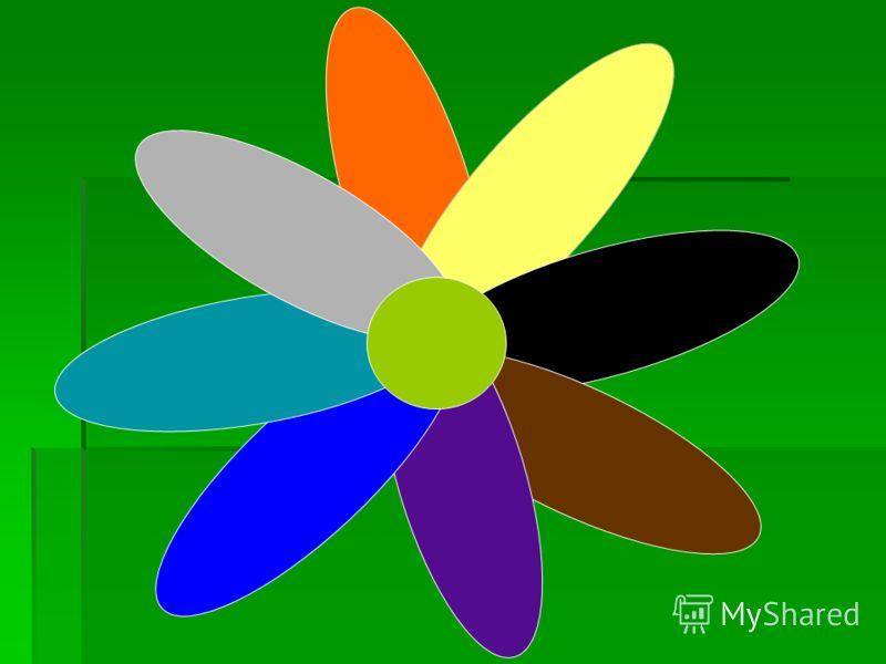 Рефлексия Перед вами цветик- восьмицветик. Выберете лепестки того цвета, который соответствует вашему настроению