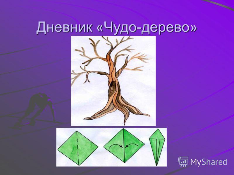 Дневник «Чудо-дерево»