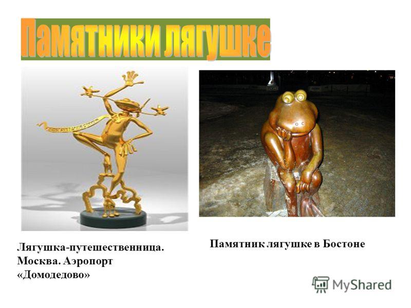 Памятник лягушке в Бостоне Лягушка-путешественница. Москва. Аэропорт «Домодедово»