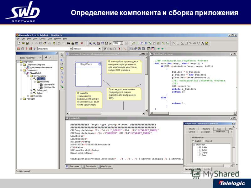 Определение компонента и сборка приложения