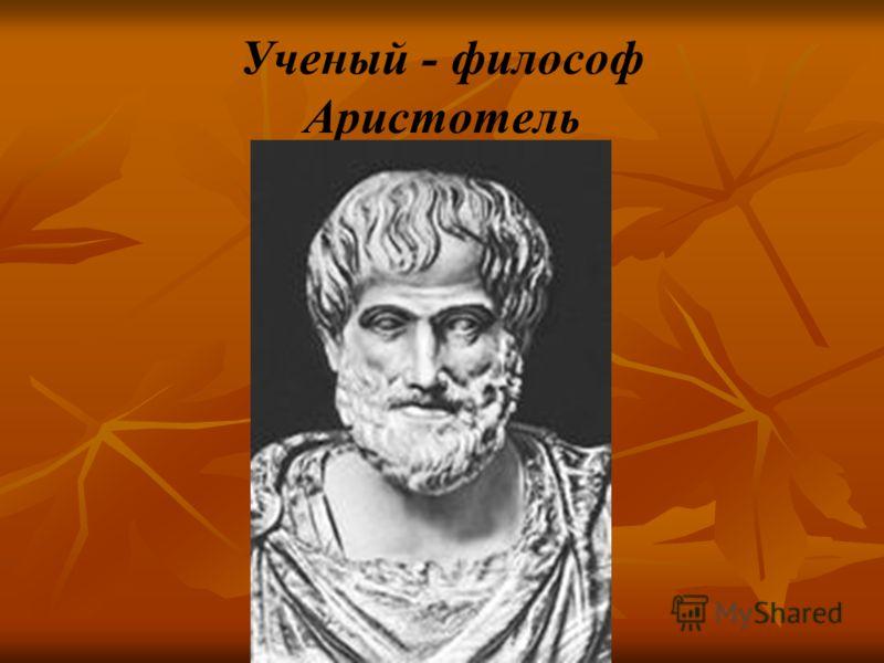 Ученый - философ Аристотель