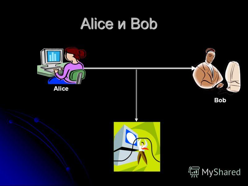 Alice и Bob Alice Bob