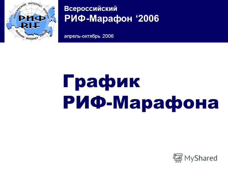Всероссийский РИФ-Марафон 2006 апрель-октябрь 2006 График РИФ-Марафона