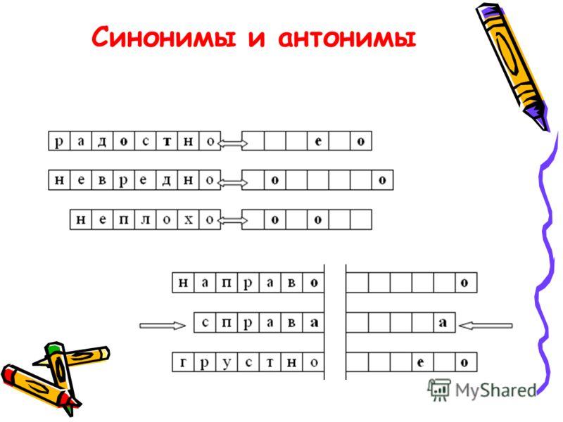 Синонимы и антонимы