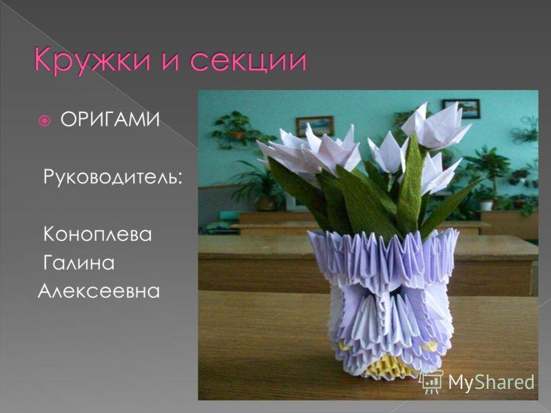 ОРИГАМИ Руководитель: Коноплева Галина Алексеевна