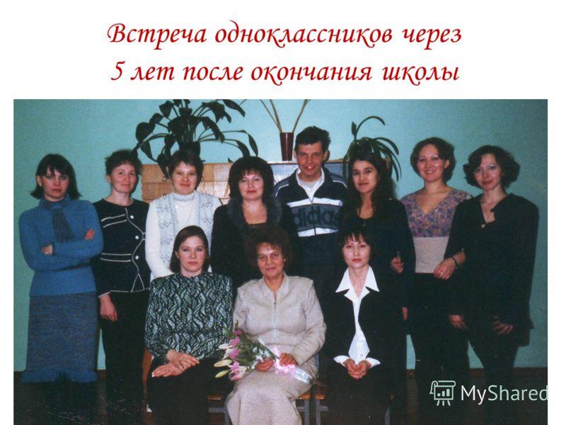 Встреча одноклассников через 5 лет после окончания школы