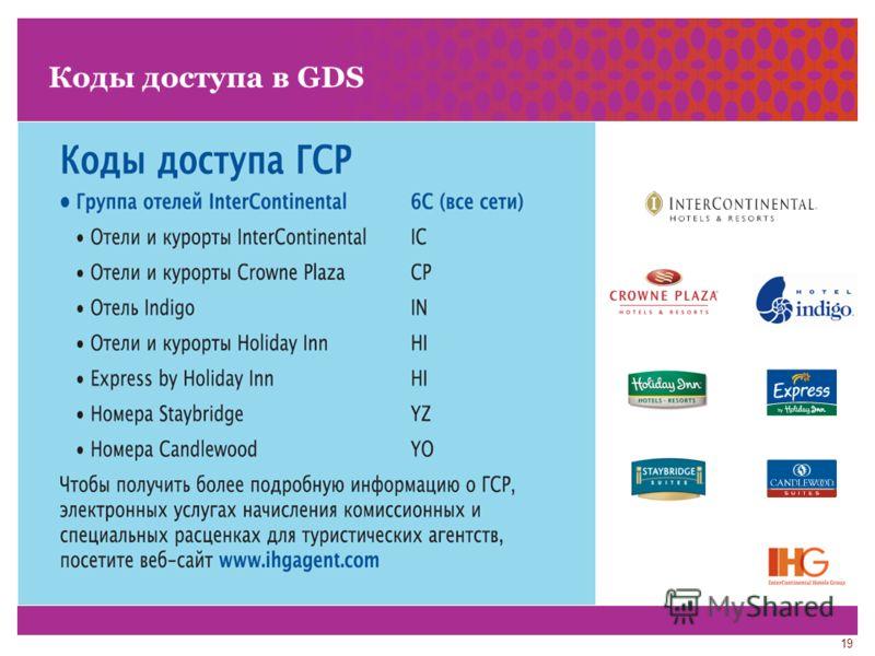19 Коды доступа в GDS