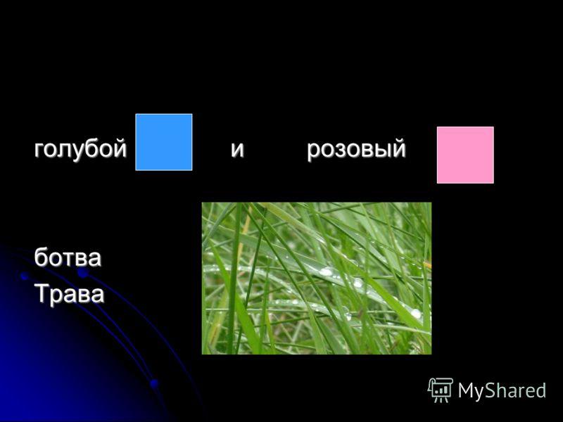 голубой и розовый ботваТрава
