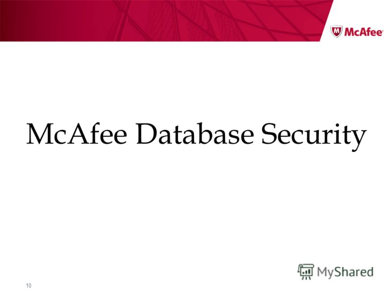 10 McAfee Database Security