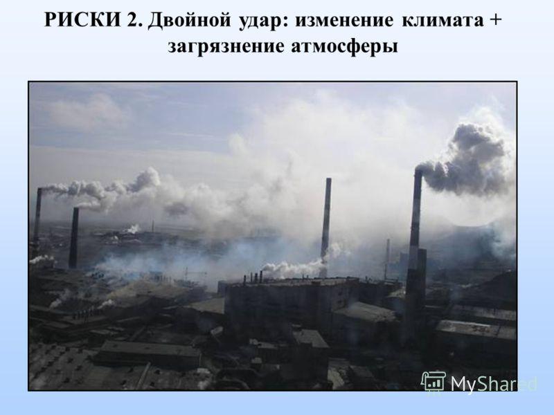 РИСКИ 2. Двойной удар: изменение климата + загрязнение атмосферы