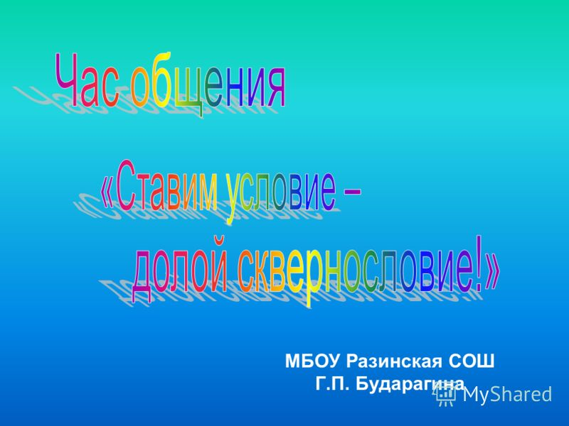 МБОУ Разинская СОШ Г.П. Бударагина
