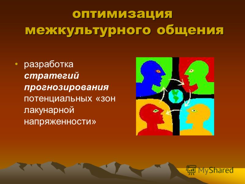 оптимизация межкультурного общения разработка стратегий прогнозирования потенциальных «зон лакунарной напряженности»