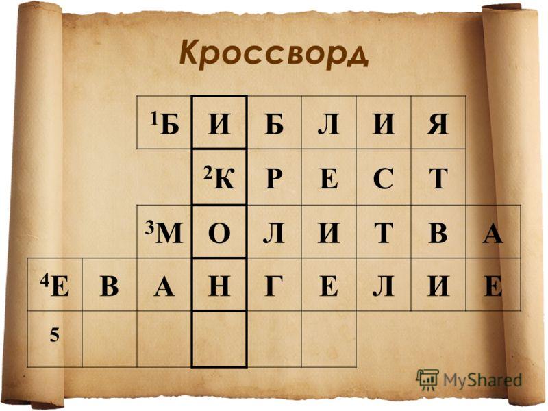 1Б1БИБЛИЯ 2К2КРЕСТ 3М3МОЛИТВА 4Е4ЕВАНГЕЛИЕ 5