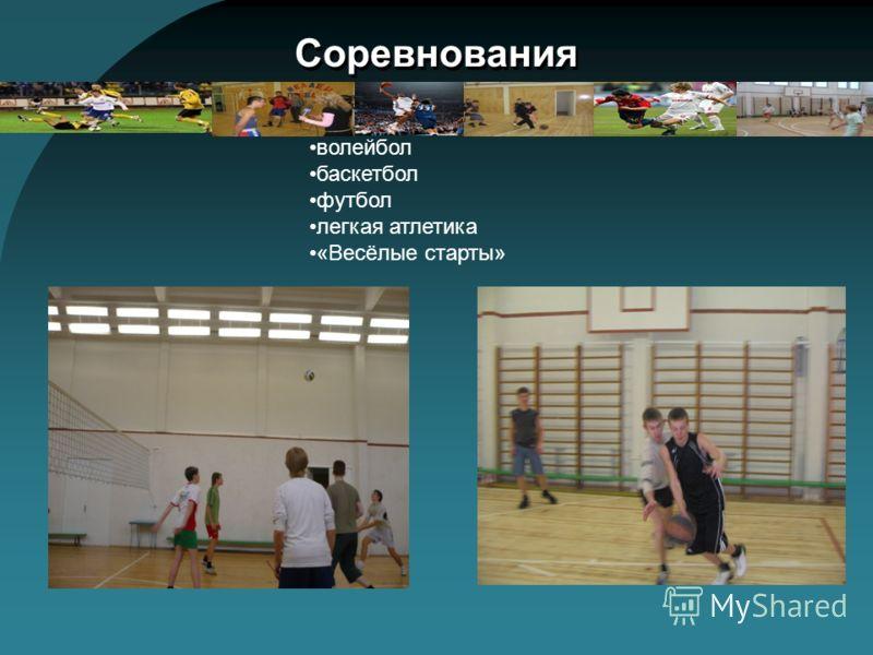 Соревнования волейбол баскетбол футбол легкая атлетика «Весёлые старты»