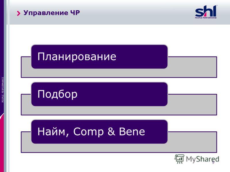 PEOPLE PERFORMANCE 9 ПланированиеПодборНайм, Comp & Bene Управление ЧР