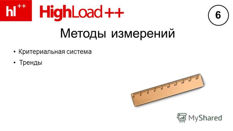 Методы измерений Критериальная система Тренды 6