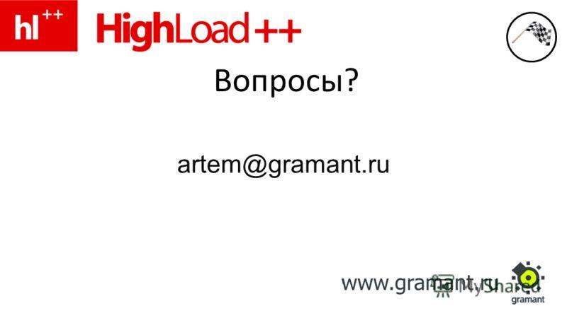 Вопросы? artem@gramant.ru