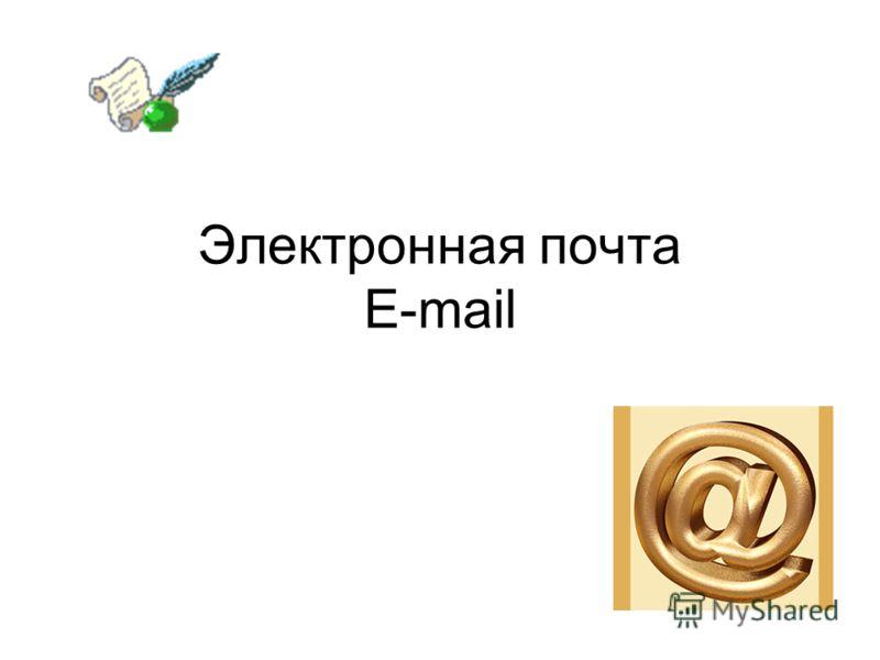 Электронная почта E-mail