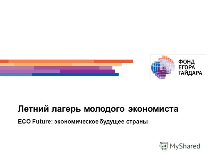 Летний лагерь молодого экономиста ECO Future: экономическое будущее страны