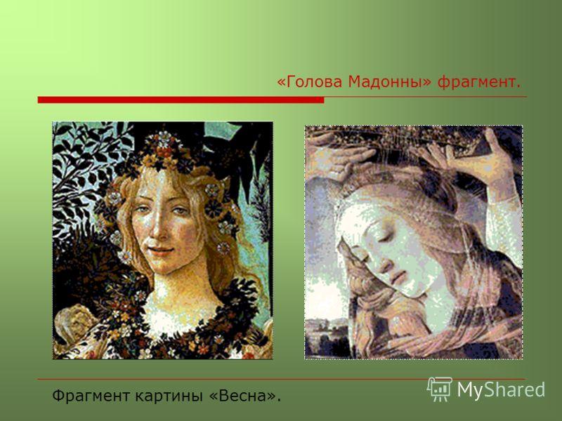 «Голова Мадонны» фрагмент. Фрагмент картины «Весна».