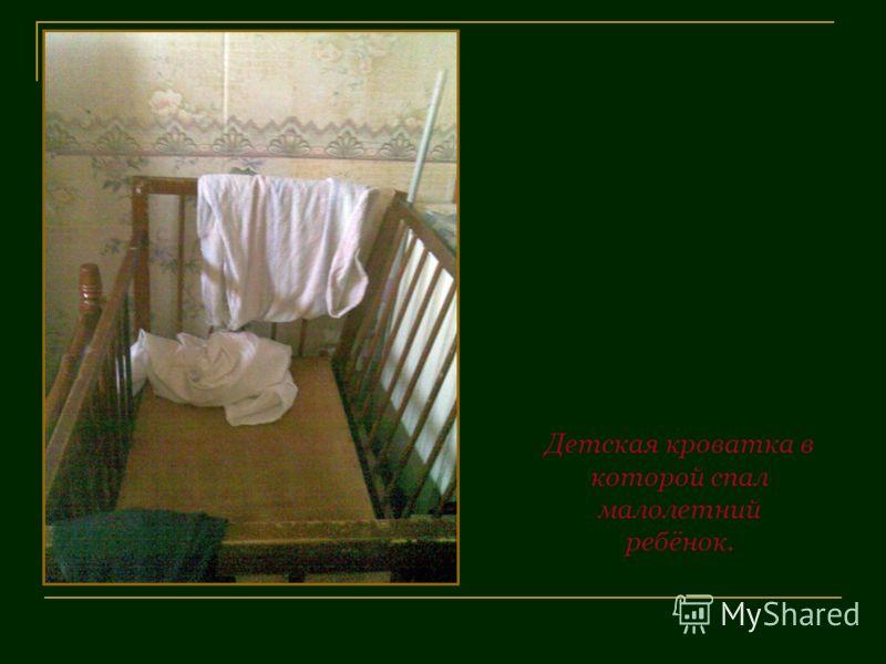 Детская кроватка в которой спал малолетний ребёнок.