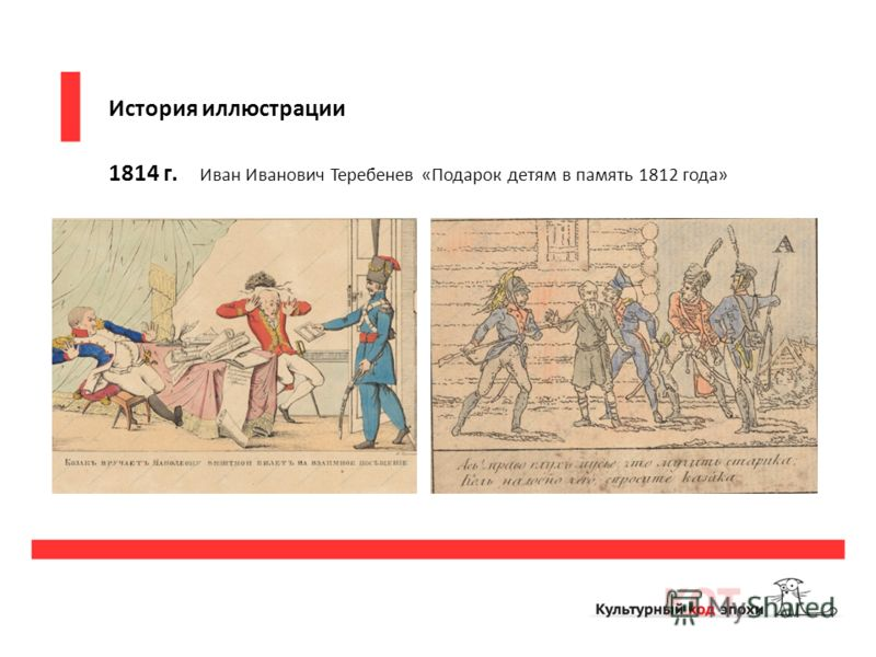 История иллюстрации 1814 г. Иван Иванович Теребенев «Подарок детям в память 1812 года»