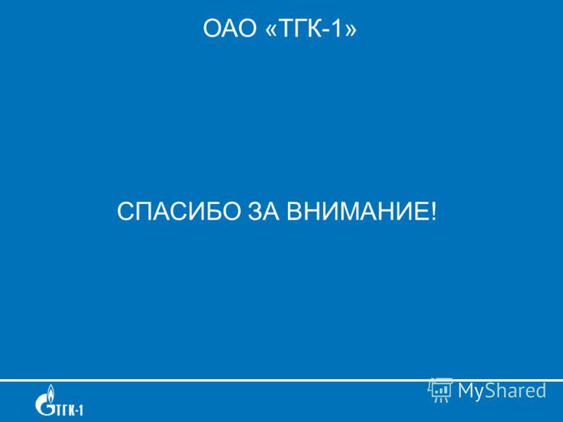 ОАО «ТГК-1» СПАСИБО ЗА ВНИМАНИЕ!