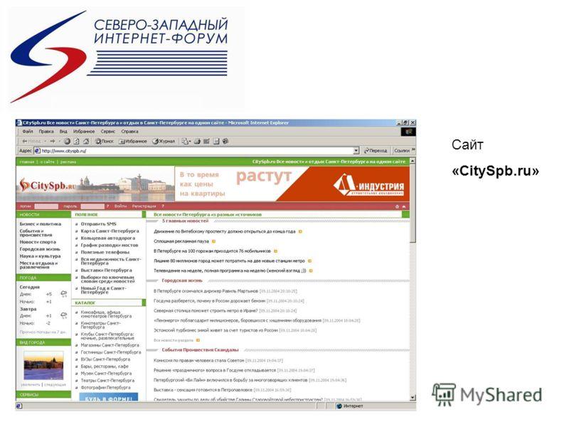 Сайт «CitySpb.ru»