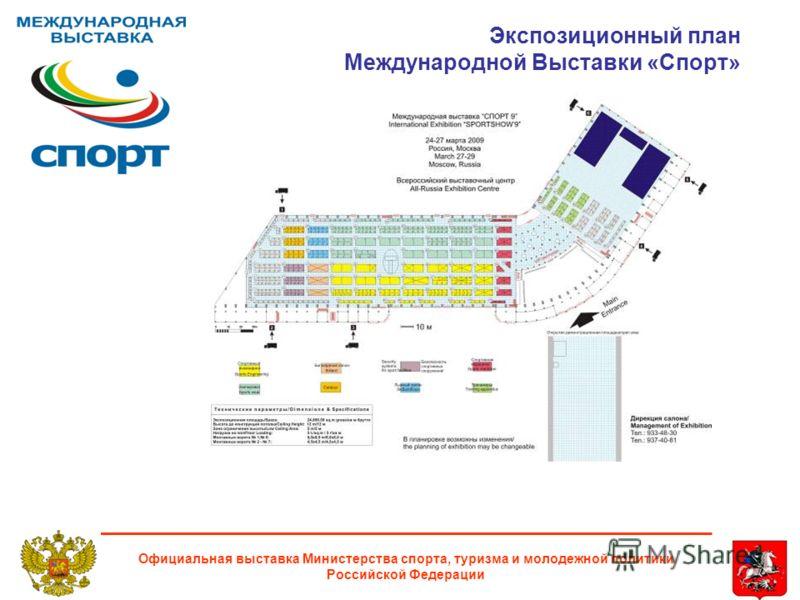 Экспозиционный план Международной Выставки «Cпорт» Официальная выставка Министерства спорта, туризма и молодежной политики Российской Федерации