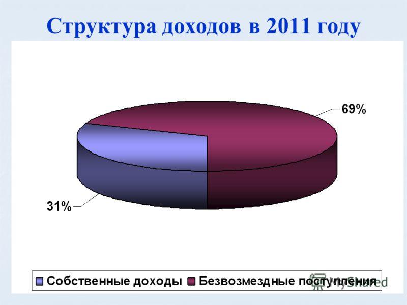 Структура доходов в 2011 году